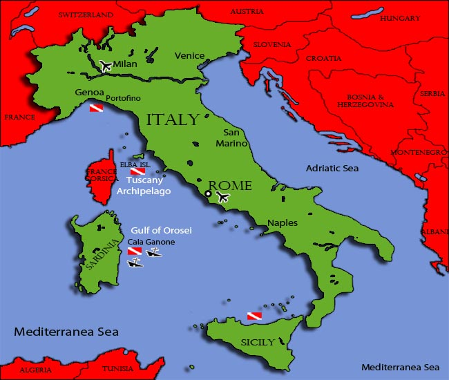 Diving in ItalyDiving InformationDive Sites and Dive Centers