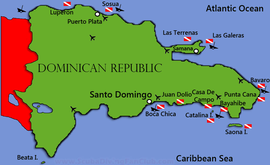 Dominican Republic Dive Sites-Diving Information-Dive centers on