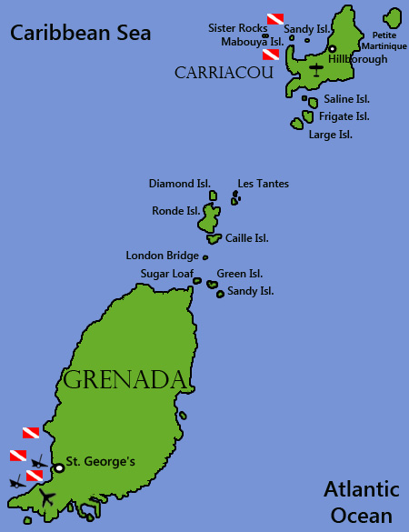Diving Grenada and CarriacouDiving InformationDive Sites and Dive