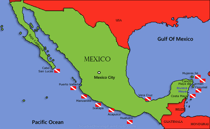 Mexico Dive Sites | Diving Information | Dive centers