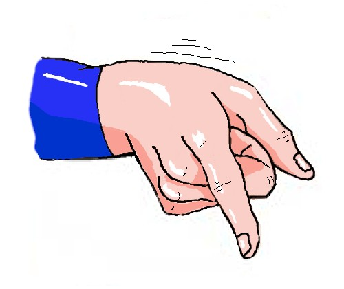 Pointing at: